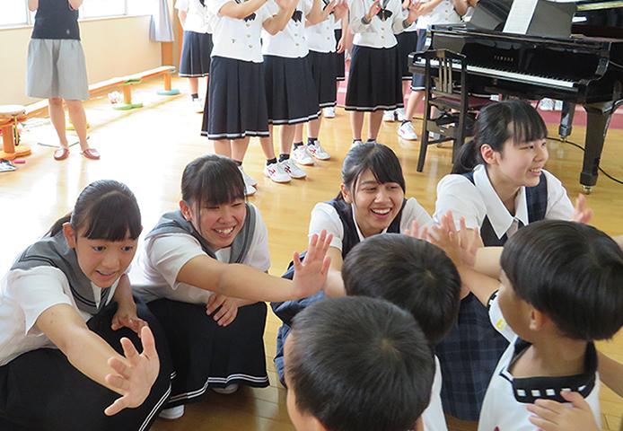 済美高校の生徒とコンサート