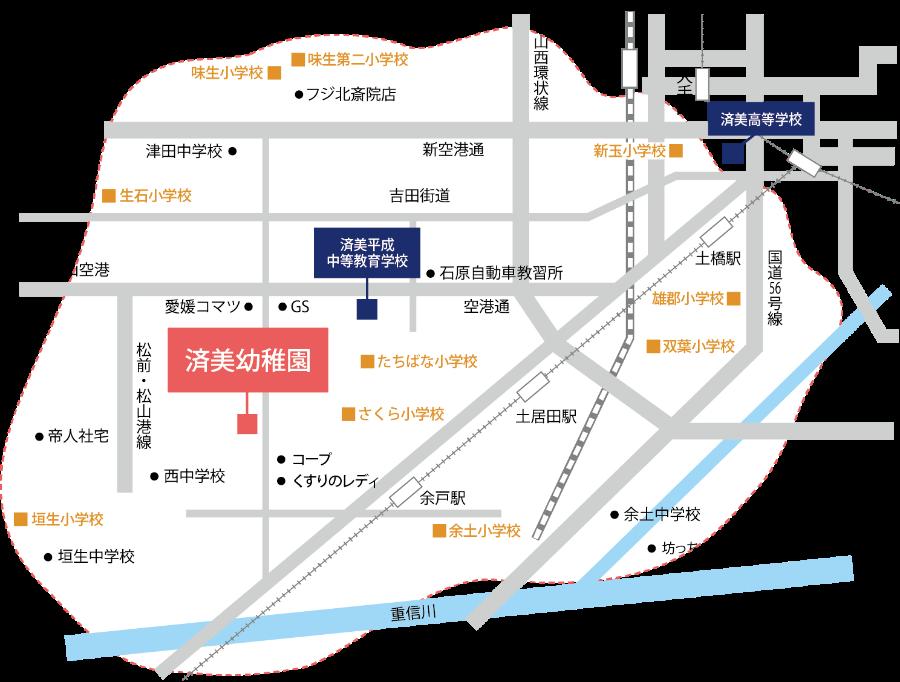 送迎バス運行地域マップ